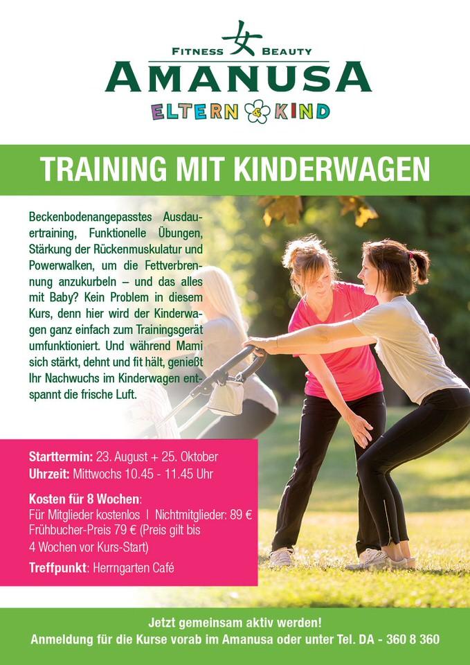 training mit kinderwagen darmstadt
