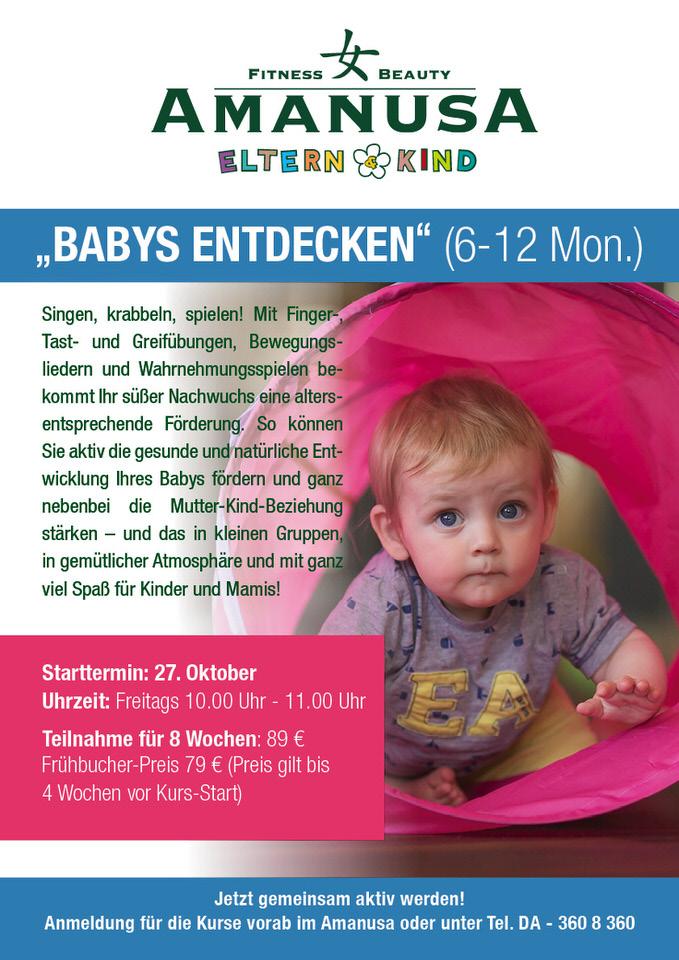 babykurs babys entdecken