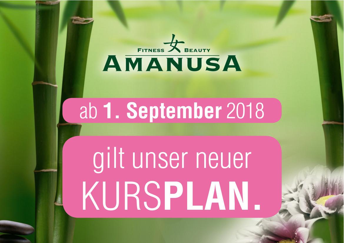 Neuer Herbstkursplan im Amanusa